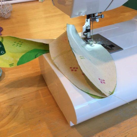 Sewing Green Mixed Media Fabric
