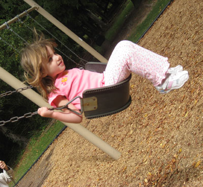 Lily on the swing.