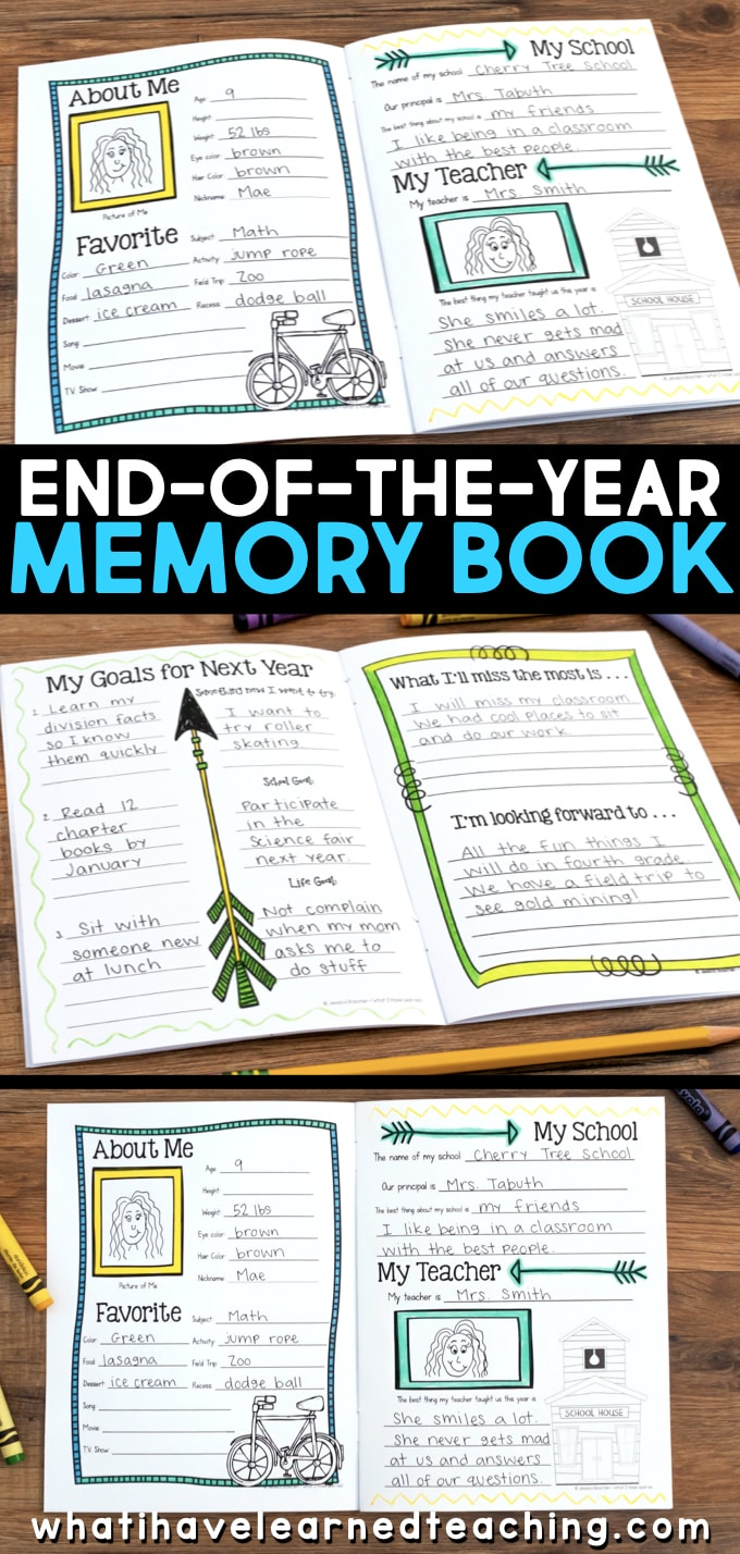 End Of Year Memory Book : memory, End-of-the-Year, Memory, Activities
