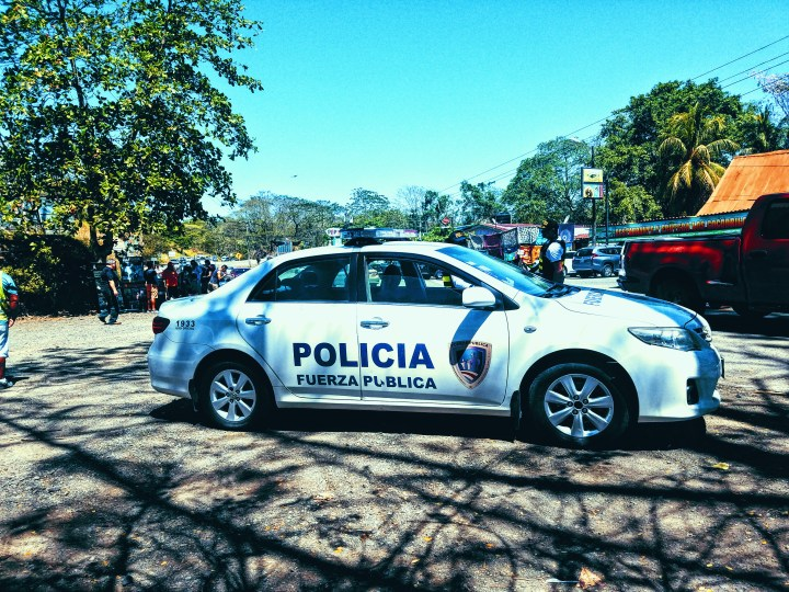 A police car in Costa Rica