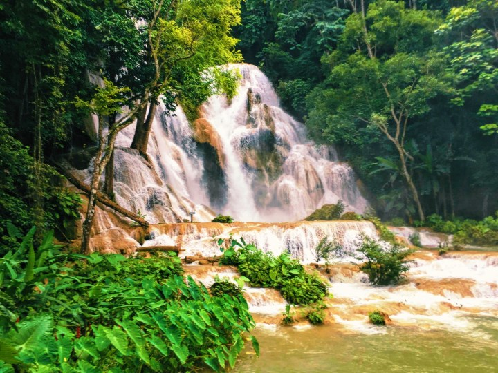 The Kuang Si waterfalls in Laos.