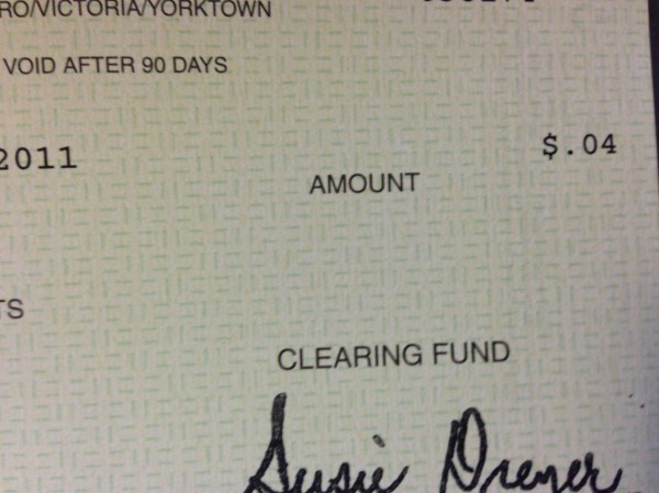 How Do You Write a Check with Cents