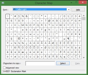 windows-symbol-and-special-characters