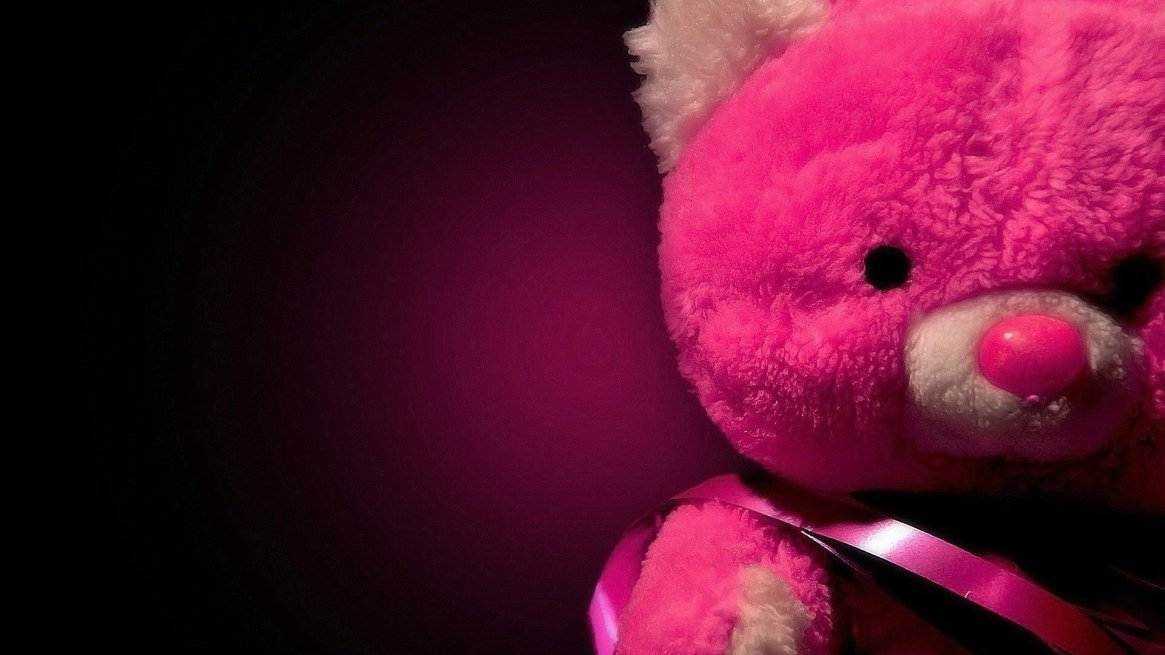 red-teddybear-wallpaper