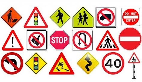 Pictograph road signs