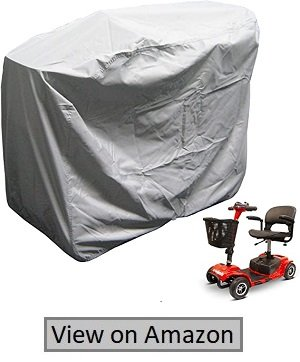 "Formosa Covers Heavy Duty 300D Mobility Scooter Storage Cover- Keep Your Electric Powered Wheelchair Clean And Dry At Home Or On The Road 48"" L×22'D×38"" H"