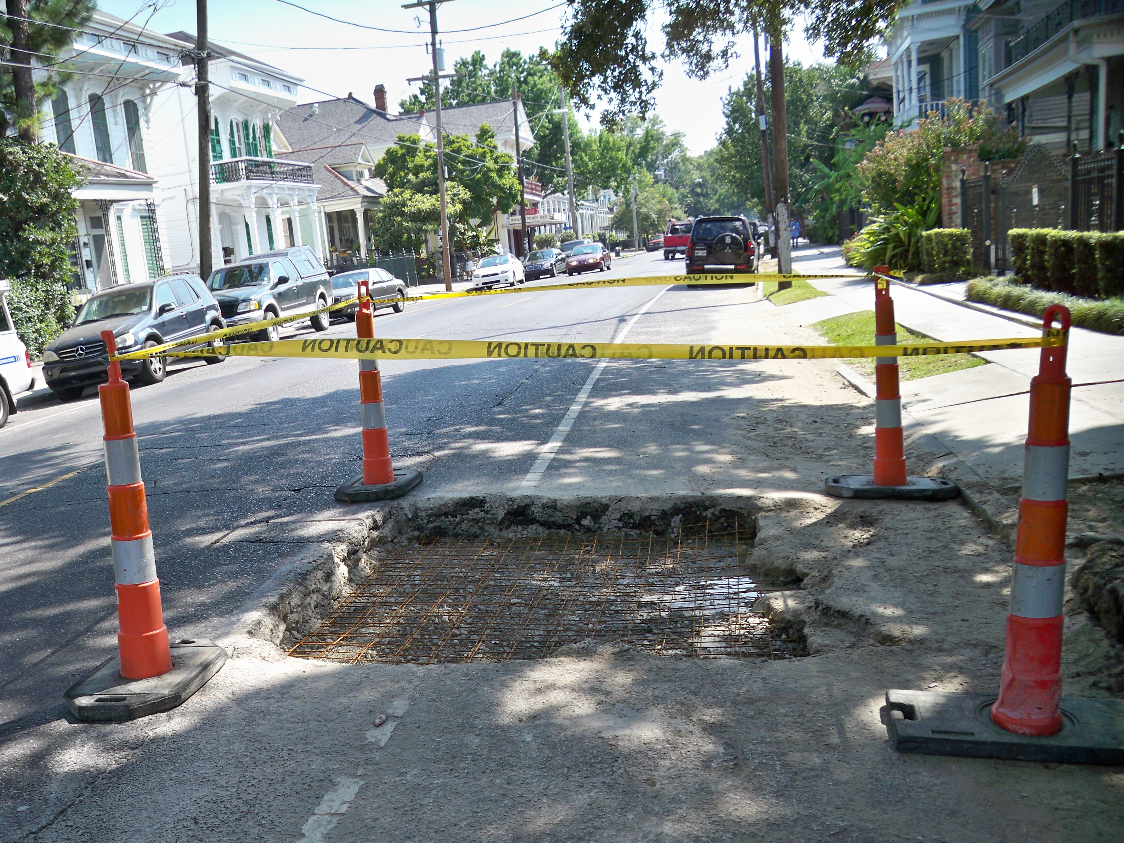 Pothole Repair at Magazine and First