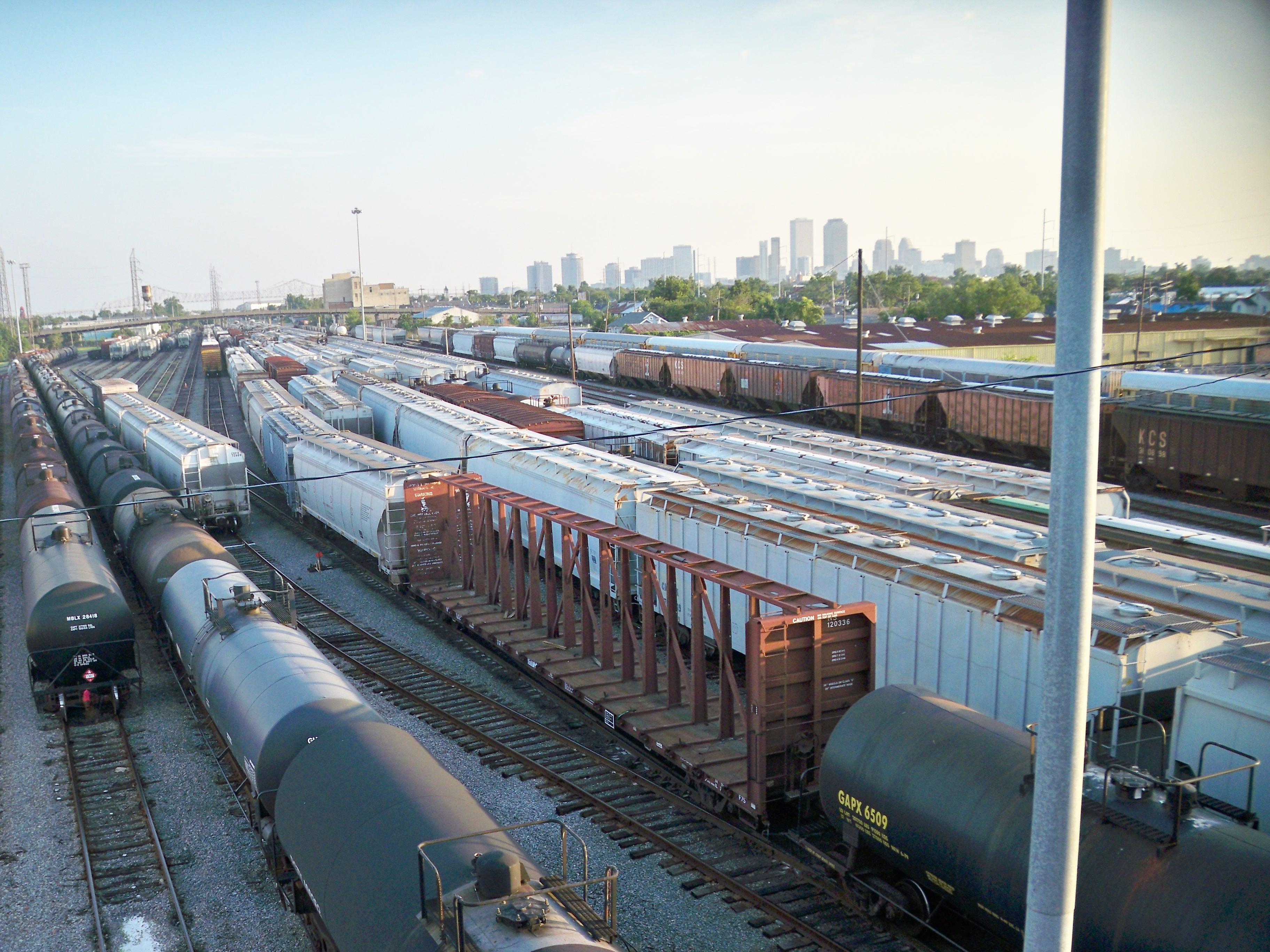 Oliver Train Depot at Galvez