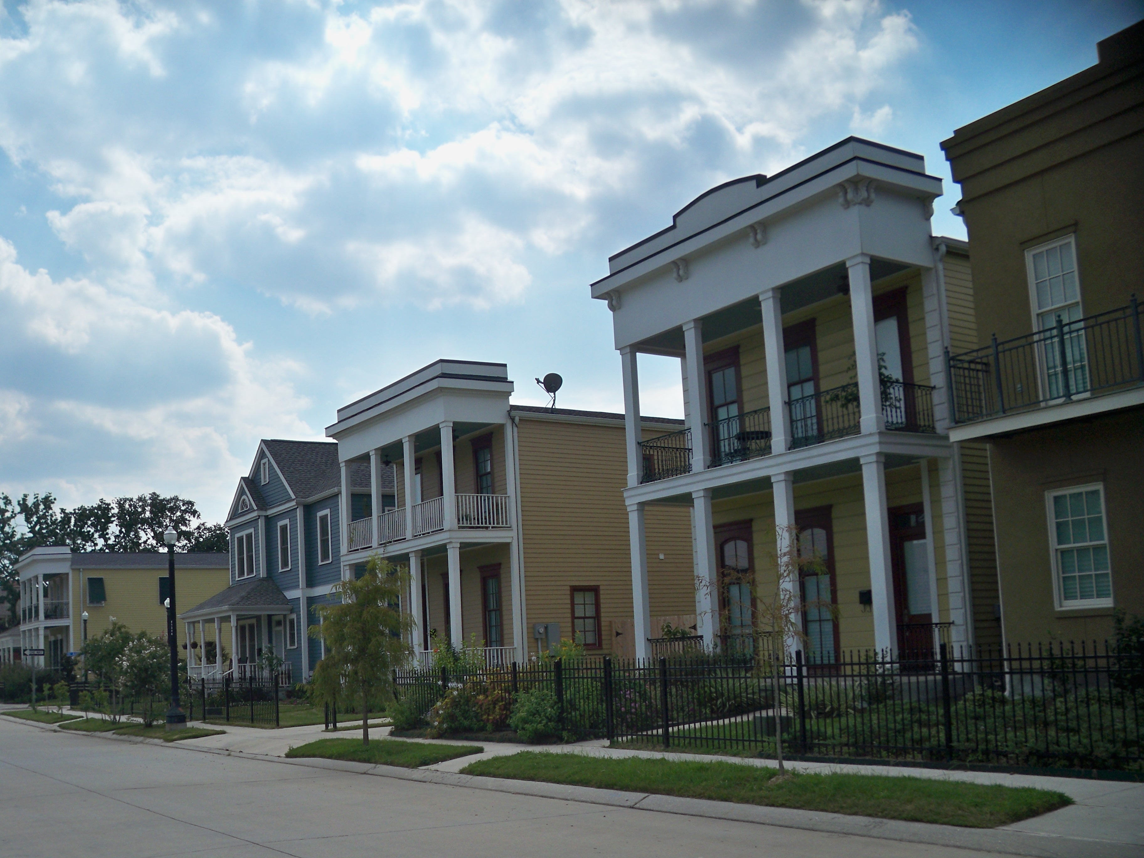 Houses in the St. Thomas Development