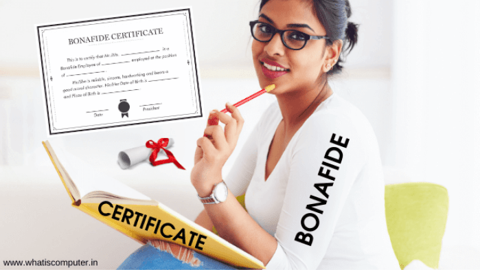 What is a Bonafide Certificate? How to get a Bonafide Certificate?