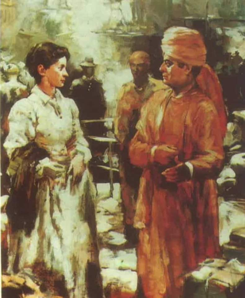 Sister Nivedita with Swami Vivekanand Photo