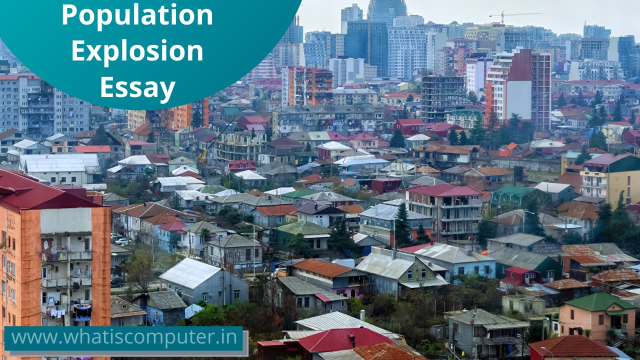 Population Explosion Essay for Students and Children
