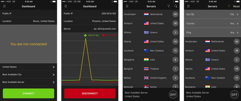 IPVanish App for iOS