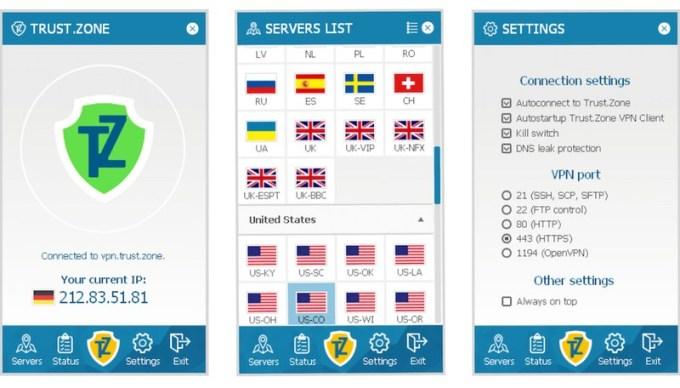 Apps for Trust.Zone VPN