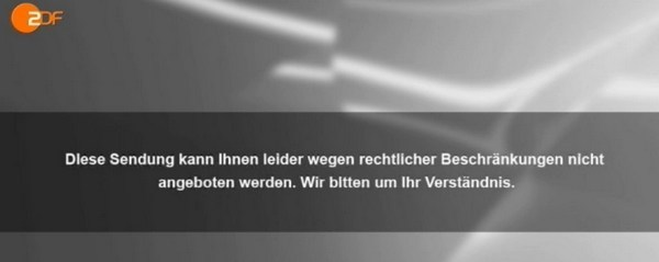 Error Message - ZDF