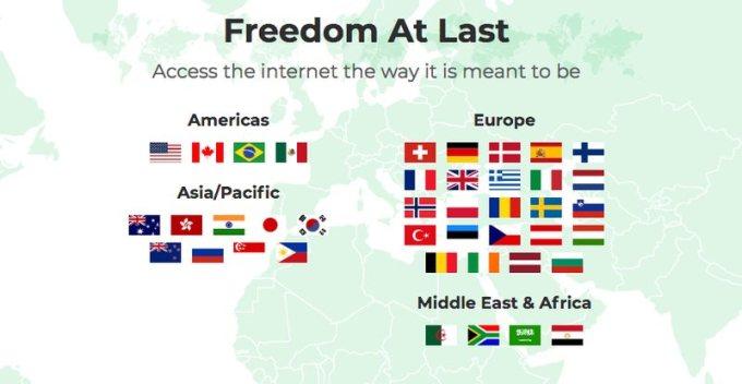 BulletVPN Server List 41 Countries