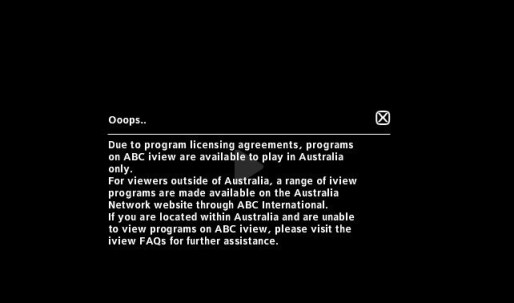 ABC iView Error