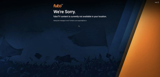 FuboTV Geo-error Message