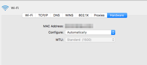 Mac's MAC Address
