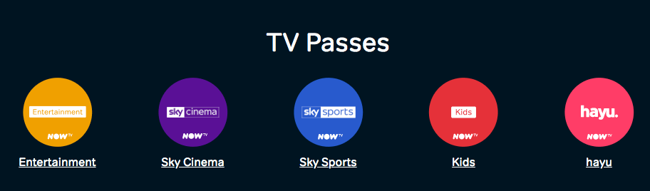 Now TV Passes