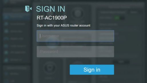 Router Sign in