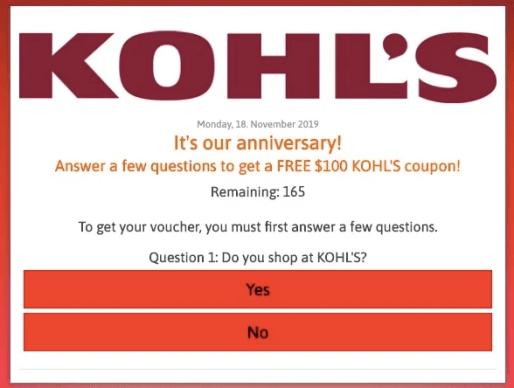 Kohl's Scam
