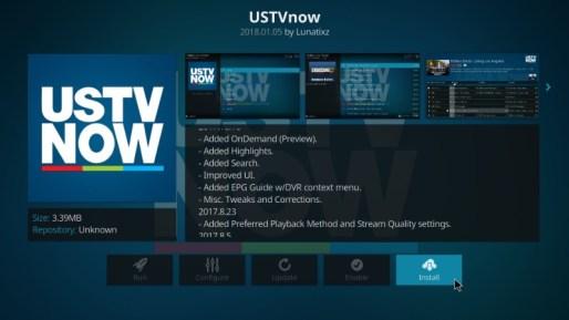 Install USTV