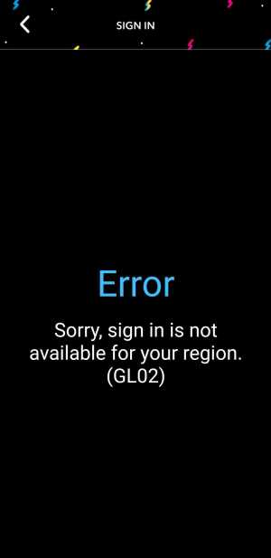 Sign in Error CN