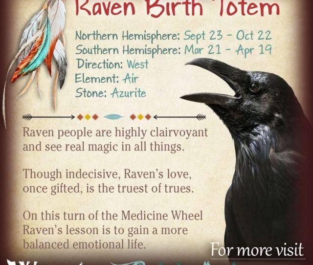 Raven Native American Zodiac Sign Birth Totem X