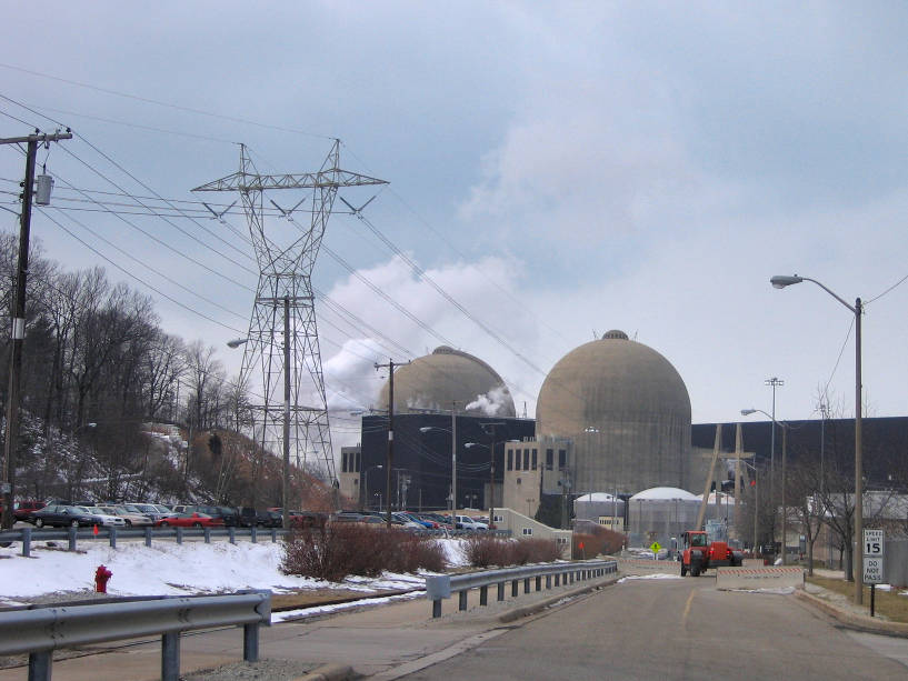 Una central nuclear.