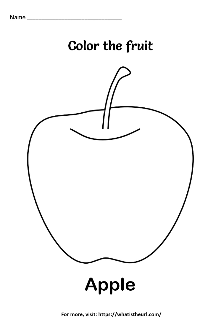 Coloring Pictures Of Fruits : coloring, pictures, fruits, Fruit, Coloring, Worksheets, Teacher