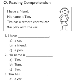 Reading comprehension worksheets for grade 1 - Your Home Teacher [ 1079 x 748 Pixel ]
