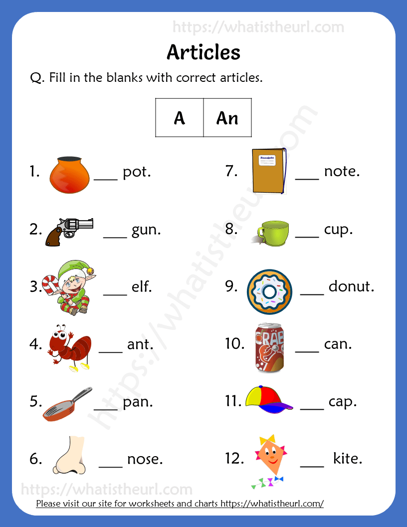 hight resolution of Articles Worksheets For 1st Grade (a / an) - Your Home Teacher