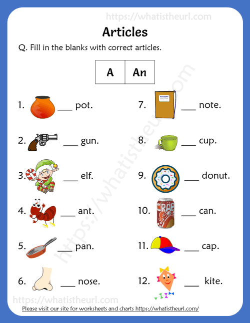 small resolution of Articles Worksheets For 1st Grade (a / an) - Your Home Teacher