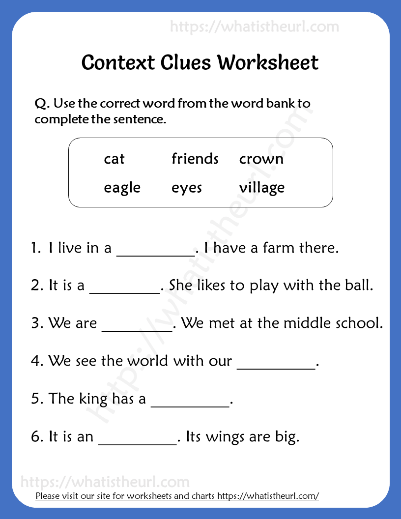 medium resolution of Context Clues Worksheet for Grade 3 - Your Home Teacher