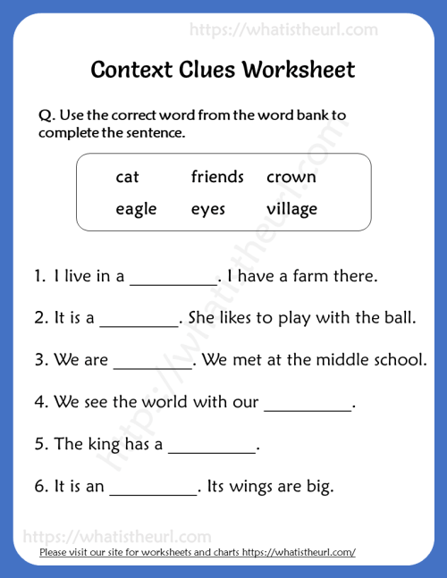 small resolution of Context Clues Worksheet for Grade 3 - Your Home Teacher