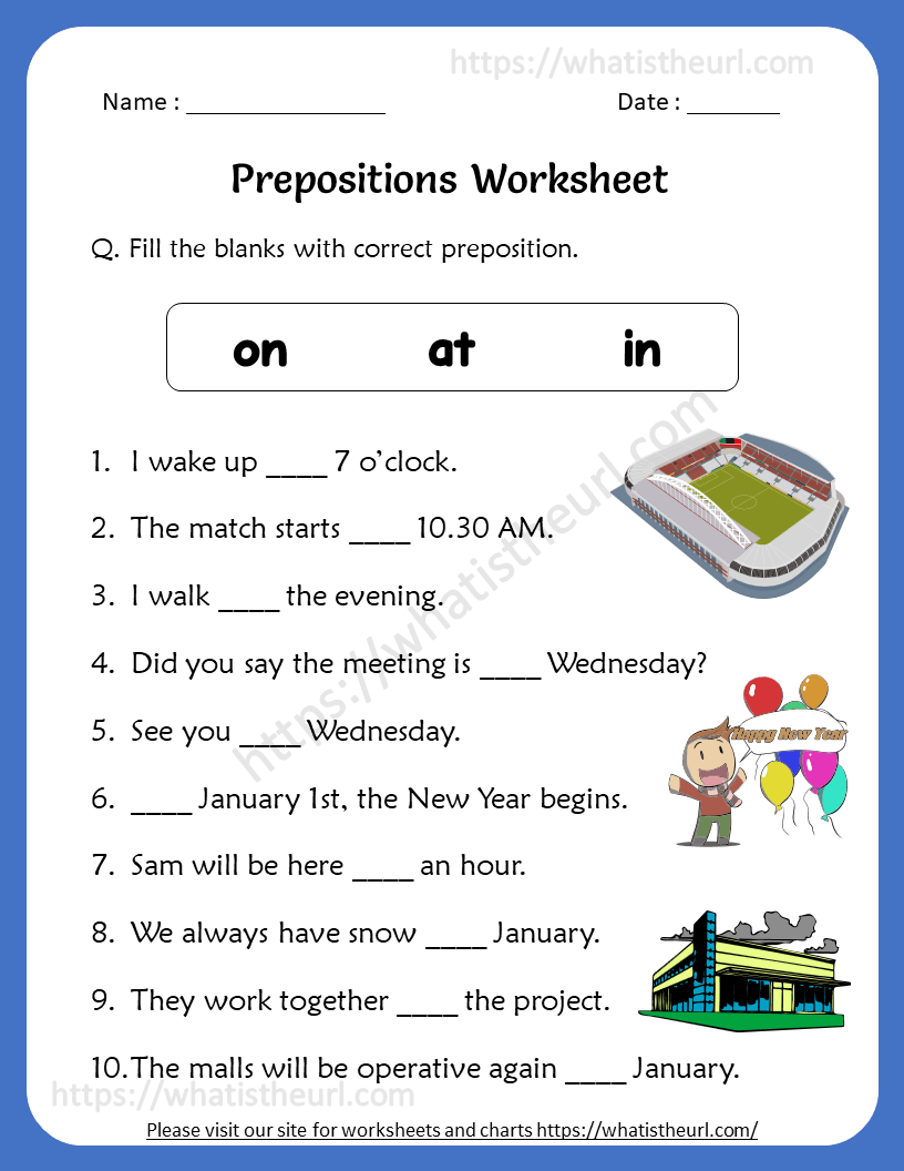 medium resolution of Preposition Worksheets for 4th Grade - Your Home Teacher