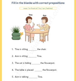 Prepositions Visual Vocabulary Worksheets - Your Home Teacher [ 1056 x 816 Pixel ]