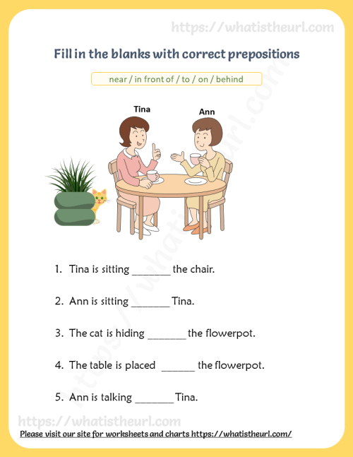small resolution of Prepositions Visual Vocabulary Worksheets - Your Home Teacher