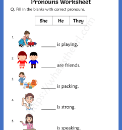 Pronouns Worksheets For 2nd Grade - Your Home Teacher [ 1056 x 816 Pixel ]