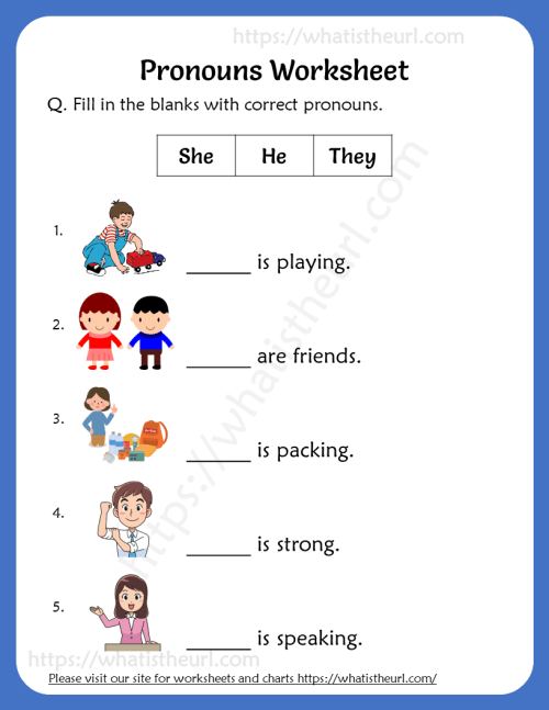small resolution of Pronouns Worksheets For 2nd Grade - Your Home Teacher
