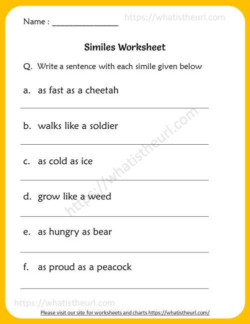small resolution of Similes Worksheets for 6th Grade - Your Home Teacher