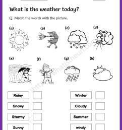 Weather Worksheet for 3rd Grade - Your Home Teacher [ 1056 x 816 Pixel ]