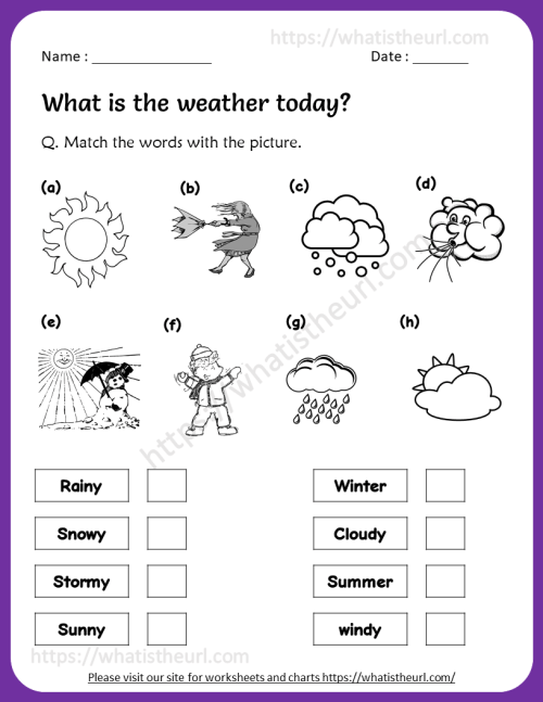 small resolution of Weather Worksheet for 3rd Grade - Your Home Teacher