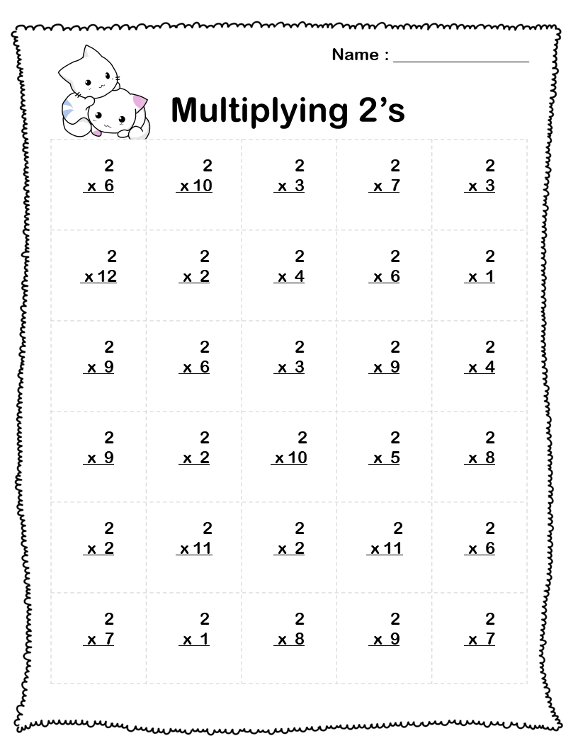 hight resolution of Multiplication Worksheets (5 Printable Worksheets) PDF - Your Home Teacher