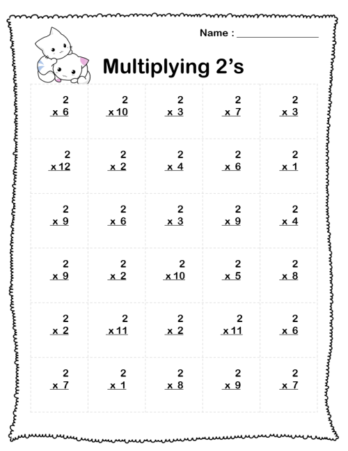 small resolution of Multiplication Worksheets (5 Printable Worksheets) PDF - Your Home Teacher