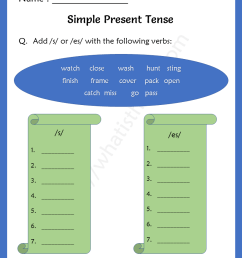 Simple Present Tense Worksheets for Grade 2 - Your Home Teacher [ 1056 x 816 Pixel ]
