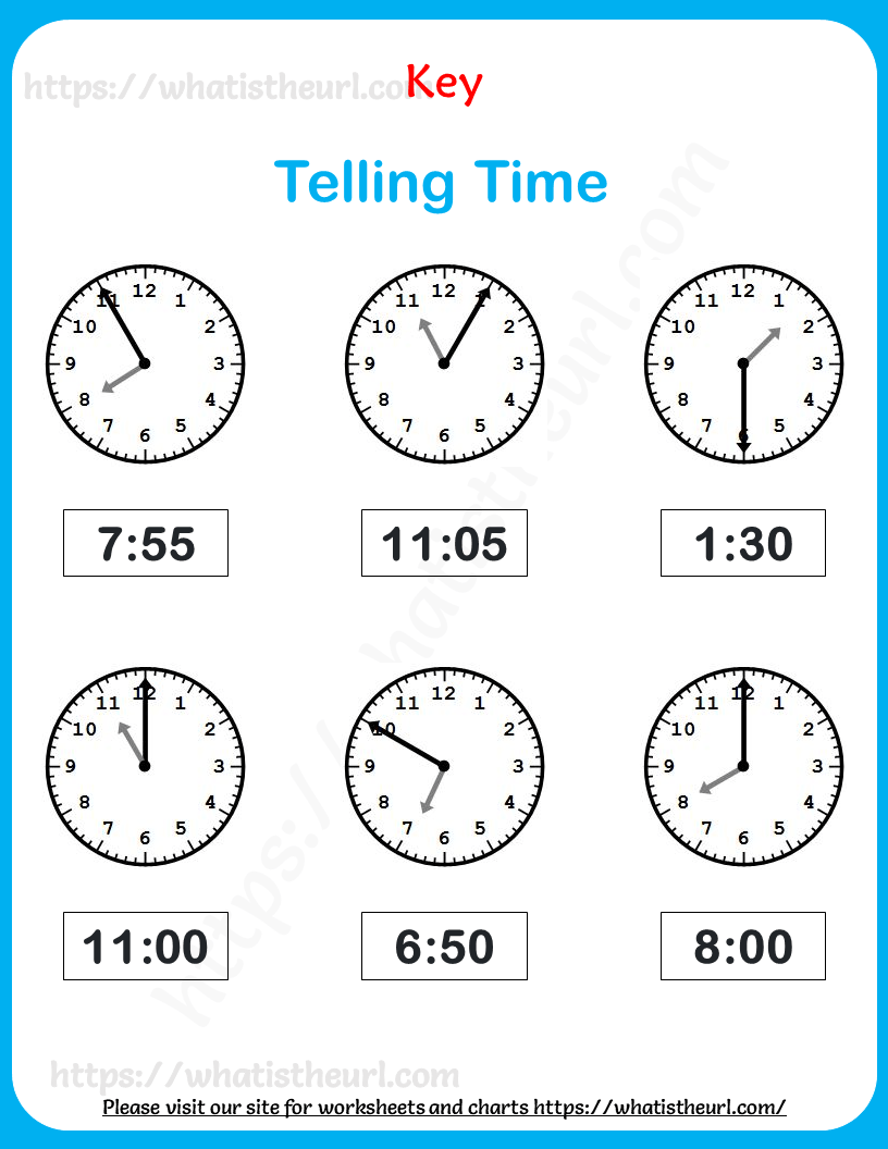 hight resolution of Telling Time Worksheets for Grade 3 - Your Home Teacher