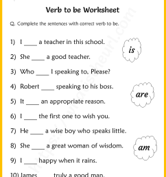Verb to be Worksheets for Grade 2 - Your Home Teacher [ 1056 x 816 Pixel ]