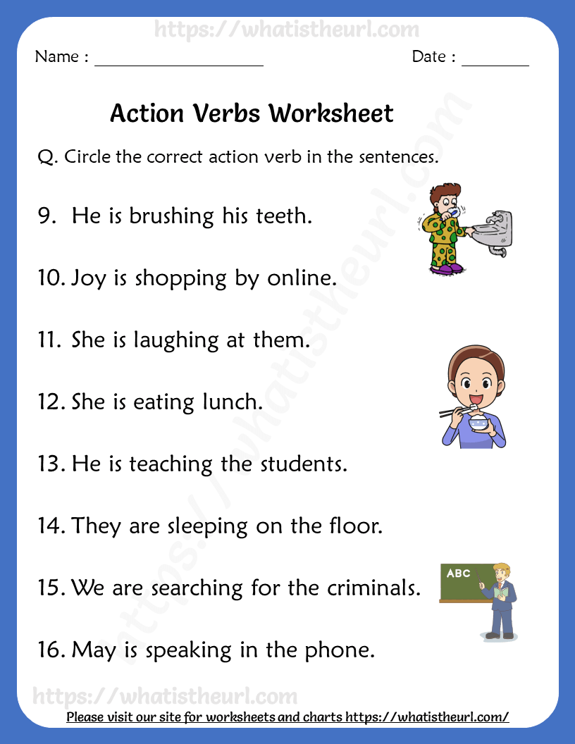 medium resolution of action-verbs-worksheets-for-grade-1-rel-1-2 - Your Home Teacher